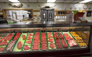 Beef Counter and Cutting Room